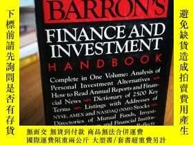 二手書博民逛書店Barron s罕見finance and investment