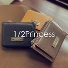 1/2Princess 三代耐磨皮革口袋餅乾中短夾-3色[A0049]