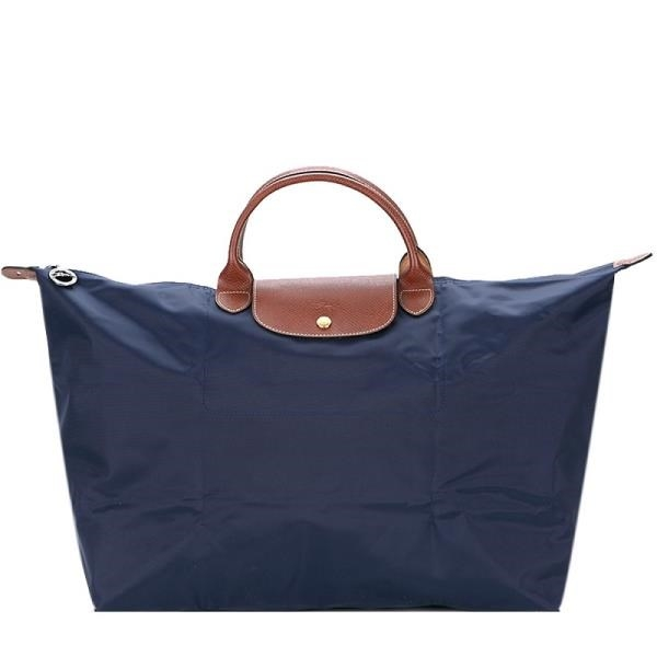 【南紡購物中心】LONGCHAMP LE PLIAGE短把手提旅行袋(大/海軍藍)