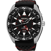 SEIKO 精工 PROSPEX GMT 菁英人動電能腕錶-黑/45mm 5M85-0AE0R(SUN049P2)