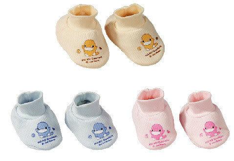 【奇買親子購物網】酷咕鴨KU.KU. 印圖保暖束口護腳套(藍色/粉色/黃色)