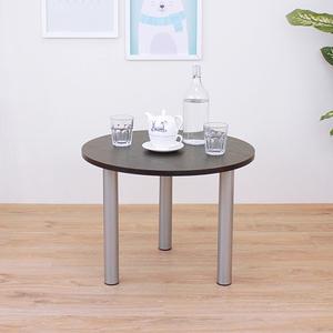 【頂堅】圓形和室桌/矮腳桌/邊桌/休閒桌-寬60x高45公分-二色可選深胡桃木色