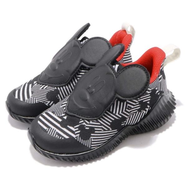 Adidas FortaRun Mickey 迪士尼聯名款米奇黑色童鞋-NO.D96916