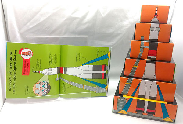【堆疊遊戲書】READ IT BUILD IT : SPACE /6個方盒+1本知識書