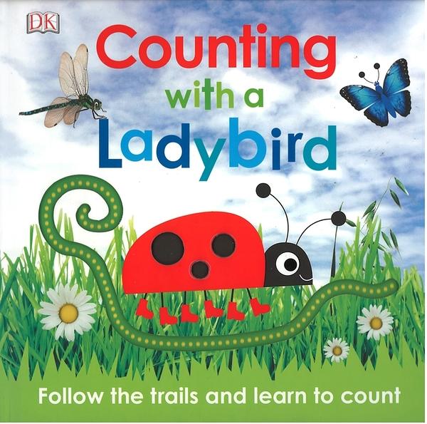 【幼兒數字學習書】COUNTING WITH A LADYBIRD/硬頁手指軌道書《主題:動物.數數》