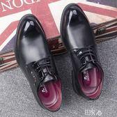 男士小皮鞋夏季韓版黑色潮流尖頭 E家人