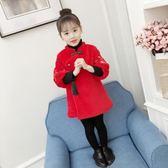 女童唐裝冬小女孩兒童拜年服秋冬女寶寶中國風童裝新年裝過年衣服