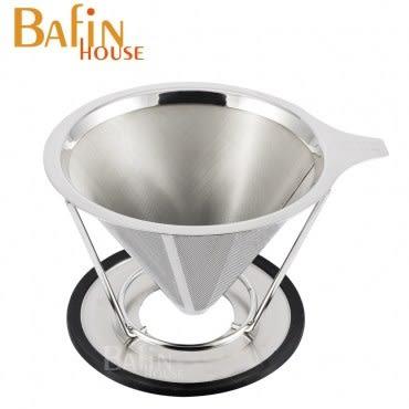 【Bafin House】雙層極細 304不鏽鋼咖啡濾網(1-4人份)