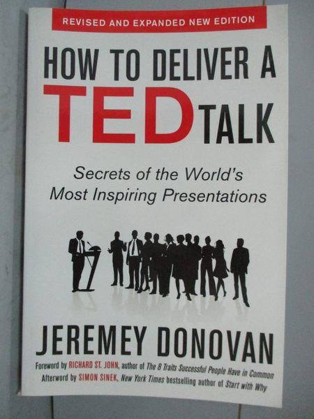 【書寶二手書T1/原文書_ZKM】How to Deliver a TED Talk: Secrets of the World…