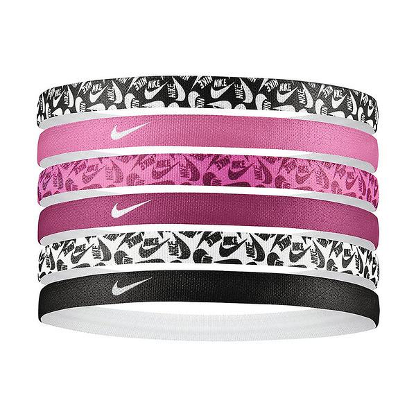 Nike Printed Hairbands [N0002545026OS] 髮帶 髮束 運動 訓練 止滑 6入 商標