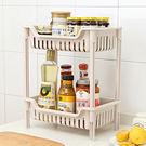 ✭米菈生活館✭【W30】簍空落地式置物架(雙層) 收納 儲物 浴室 廚房 塑料 多層 分類 整理 大容量