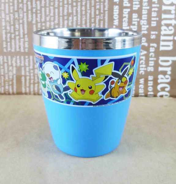 【震撼精品百貨】神奇寶貝_Pokemon~不鏽鋼杯-皮卡丘(藍)