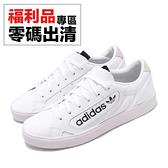 【US7.5-NG出清】adidas 休閒鞋 Sleek W 白 黑 女鞋 運動鞋 左腳些微泛黃【ACS】