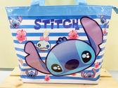 【震撼精品百貨】Stitch_星際寶貝史迪奇~史蒂奇防水手提包/透明防水包-藍大頭史蒂奇#68000
