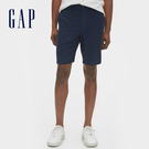 Gap 男裝 簡約風格純色休閒短褲 544806-深海軍藍色