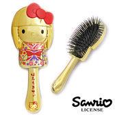 【日本進口正版】Hello Kitty 凱蒂貓 金紅款 和風 輕巧 按摩梳 梳子 三麗鷗 Sanrio - 258668