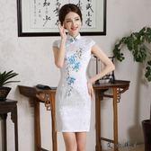 少女新款禮服改良日常短款旗袍