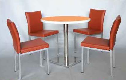 【南洋風休閒傢俱】75/90cm美耐板圓桌+伯爵 洽談椅 餐椅 休閒椅 (565-1)