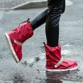 鞋套 時尚成人兒童 防雪防雨鞋套中筒防水防滑加厚底男女情侶戶外旅游 尾牙