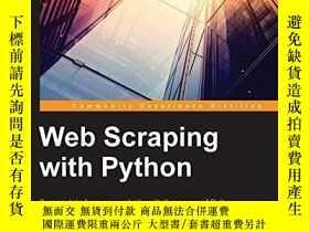 二手書博民逛書店Web罕見Scraping With PythonY256260 Richard Lawson Packt P