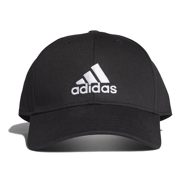 ADIDAS BBALL CAP COT 黑 男女 刺繡 可調節 運動 休閒 棒球帽 FK0891