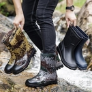 則享雨鞋男中筒夏季防水鞋膠鞋防滑釣魚水靴勞保洗車工地時尚雨靴 小時光生活館