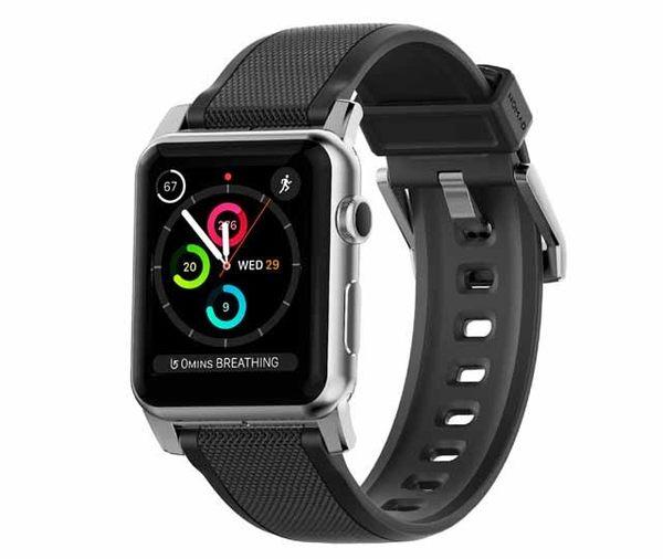 美國NOMAD (Apple Watch專用超堅固矽膠錶帶)-銀(42mm)