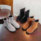 聖誕交換禮物 秋冬新品兒童英倫靴子男童女童平底鋪棉馬丁靴正韓學生機車靴