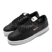 Nike 休閒鞋 Wmns Court Vintage PRM 黑 白 女鞋 小勾勾 皮革鞋面 運動鞋 【ACS】 CW1067-002