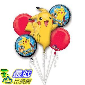 [美國直購] 神奇寶貝 精靈寶可夢周邊 Pokemon 3272901 Pikachu and Friends 5 Mylar Balloons Bouquet ~ Party Supplies