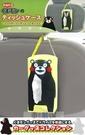 車之嚴選 cars_go 汽車用品【KM13】日本進口熊本熊 魔鬼氈黏扣吊掛式可愛面紙盒套(可吊掛車內頭枕)