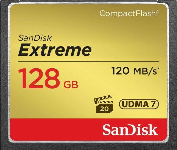 SanDisk Extreme CF 128GB 記憶卡 120MB/s  800X UDMA7【 公司貨】