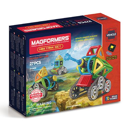 【韓國 Magformers 磁性 建構片】 Neon 迷你坦克 27pcs