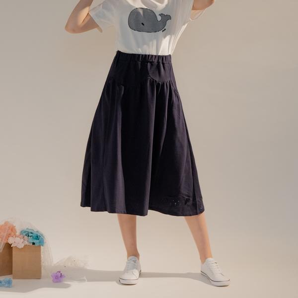 【中大尺碼】MIT立體公仔棉質長裙