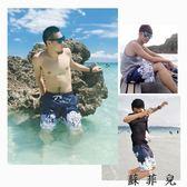 卡通沙灘褲男五分速干海灘褲