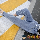 女童牛仔長褲秋裝韓版兒童長褲寬鬆休閒哈倫褲【淘嘟嘟】