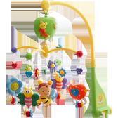 新生兒寶寶床鈴0-1歲 嬰兒玩具3-6-12個月音樂旋轉床頭鈴搖鈴床掛【七夕節全館88折】