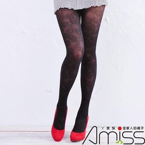 Amiss-襪子團購網♥【A133-71】流行花紋褲襪-小雛菊