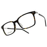 DIOR 光學眼鏡 TECHNICITYO6F 086 (琥珀) 學院 古典 威靈頓 方框 鏡框 鏡架 # 金橘眼鏡