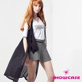 【SHOWCASE】V領貼鑽休閒棉質T恤(黑/白/橙)