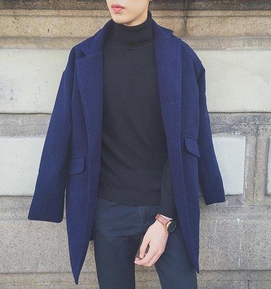 【JP.美日韓】ZINIF 東大門正韓代購 冬季暖男經典長大衣外套
