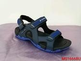 MS1666愛麗絲的最愛 防水必備~ LOTTO輕量織帶運動涼鞋/男款平底涼鞋/護趾涼鞋