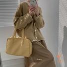 針織外套女大毛衣百搭外套純色氣質寬鬆開衫【橘社小鎮】