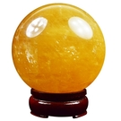 開光招財天然黃水晶球風水