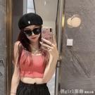 造型帽 日系甜美純色針織反戴貝雷女韓版秋冬季時尚洋氣刺繡字母前進帽潮 開春特惠