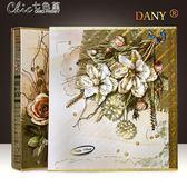 相本創意禮物8寸相冊影集家庭大本插頁式情侶紀念冊八寸留言記事「Chic七色堇」