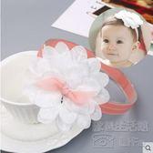 韓版嬰兒蕾絲蝴蝶結發帶女童發飾tz4631【歐爸生活館】