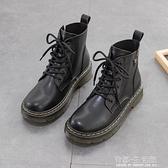 英倫風馬丁靴女鞋百搭秋冬季年新款加絨潮ins酷二棉鞋短靴子 雙十二全館免運