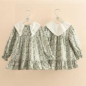 現貨  2-14歲 女童 寶寶卡通連衣裙 2019春裝新款女童童裝兒童印花長裙