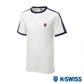 K-SWISS Soft Cool T-Shirt印花短袖T恤-男-白